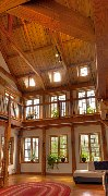View of the livingroom of the Hummingbird retreat