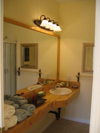Cedar bathroom