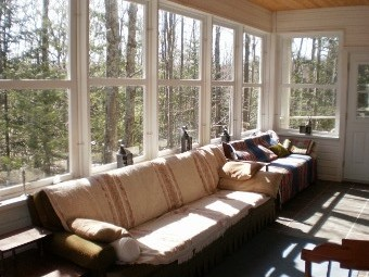 The veranda offers a very comfortable seating and relaxing area