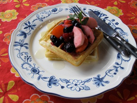 Frank's famous waffle